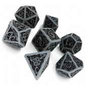 Gray & Black Celtic 3D Dice Set